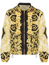 Versace Beroc Print Hooded Jacket Black
