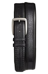 Men's Mezlan Calfskin And Genuine Ostrich Leather Belt