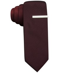 Alfani Red Exploded Panel Skinny Tie Only At Macy's
