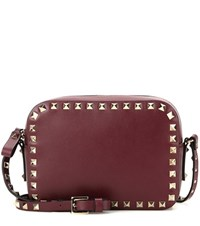 Valentino Rockstud Leather Crossbody Bag Red