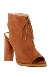 French Connection Uttara Open Toe Bootie Brown