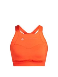 Adidas By Stella Mccartney Essential Mesh Panel Performance Bra Orange