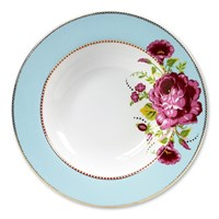 Pip Studio Floral Pasta Plate Blue
