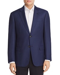 Emporio Armani Micro Dotted Tailored Classic Fit Sport Coat Blue