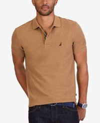 Nautica Men's Short Sleeve Performance Deck Polo Beige