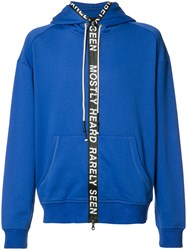 Mostly Heard Rarely Seen Zipped Hoodie Blue