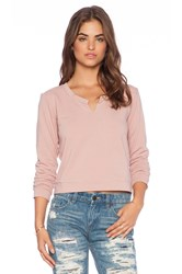 Lanston Split Sweatshirt Blush