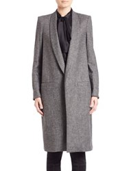 Alice Olivia Kylie Long Shawl Collar Coat Charcoal