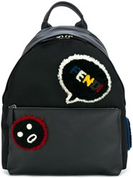 Fendi Faces Backpack Black