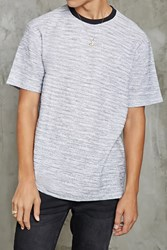 Forever 21 Marled French Terry Knit Tee White Black