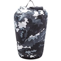 The North Face Psychedelic Camo Flyweight Rolltop Backpack Black