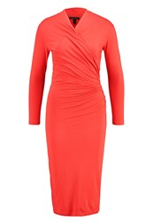 Baukjen Darton Shift Dress Coral Rose Red