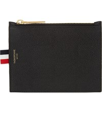 Thom Browne Small Pebbled Leather Coin Purse Black
