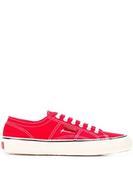 Superga Lace Up Sneakers Red