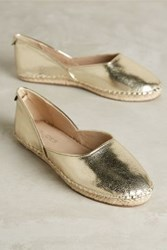 Anthropologie Lilly Espadrilles Gold