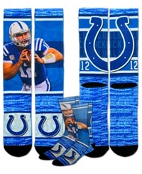 For Bare Feet Andrew Luck Indianapolis Colts Rush Player Jersey Crew Socks Blue