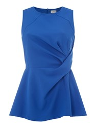 Linea Sleeveless Knot Front Top Blue