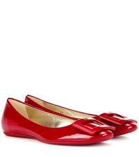 Roger Vivier Gommette Patent Leather Ballerinas Red