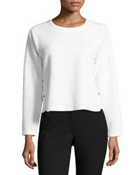 Elliatt Native Quilted Long Sleeve Top White