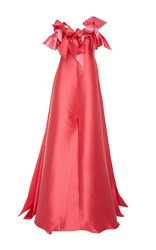 Alexis Mabille Strapless Bow Detail Gown Pink