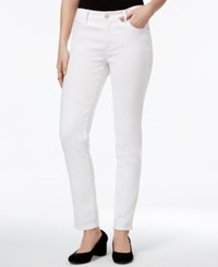 Maison Jules Bright White Wash Ankle Skinny Jeans Only At Macy's