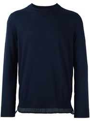 Sacai Drawstring Jumper Blue