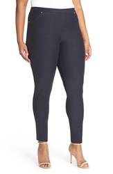 Plus Size Women's Michael Michael Kors Stretch Twill Leggings New Navy