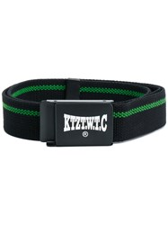 Ktz Woven Logo Plaque Belt Unisex Acrylic One Size Black