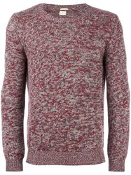 Massimo Alba Crew Neck Jumper Red