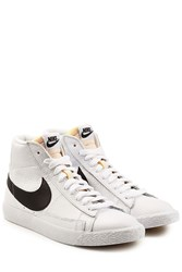 Nike Blazer Mid Retro Leather High Top Sneakers White