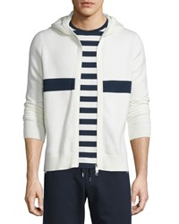 Moncler Striped Zip Up Hoodie White Size Xx Large