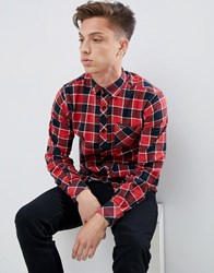 Tokyo Laundry Checked Shirt Red