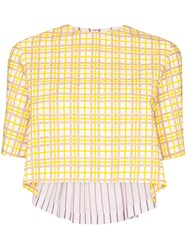 Rosie Assoulin Party In The Back Checked Shirt 60