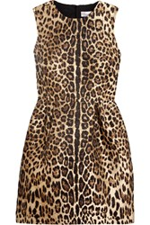 Red Valentino Redvalentino Leopard Lame Jacquard Mini Dress Leopard Print