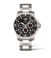 Longines Hydro Conquest Chronograph Watch Unisex Black