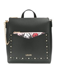 Liu Jo Floral Pouch Backpack Black
