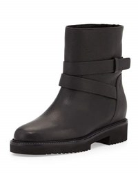 Vince Cagney Shearling Fur Lined Moto Boot Black