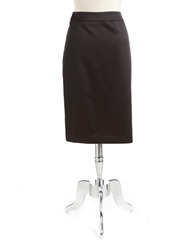 Js Collections Satin Pencil Skirt Black