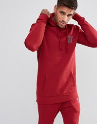 11 Degrees Hoodie In Red