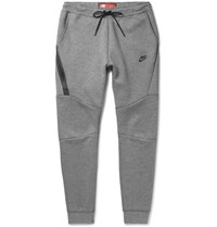 Nike Slim Fit Tapered Cotton Blend Tech Fleece Sweatpants Gray