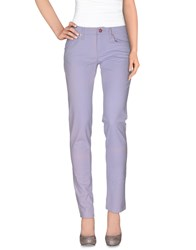 Frankie Morello Trousers Casual Trousers Women Lilac