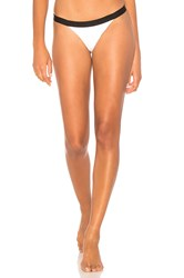 Kendall Kylie X Revolve Colorblock Cheeky Bottom White