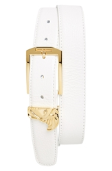 Versace Medusa Leather Belt White