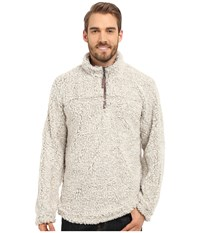 True Grit Frosty Tipped Pile 1 2 Zip Pullover Putty Men's Clothing Taupe