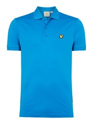 Lyle And Scott Men's Sports Pascoe Short Sleeve Polo Cobalt