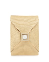 Kara Ross Itty Bitty Metallic Prunella Crossbody Bag Golden
