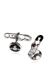 Vivienne Westwood Safety Pin Cufflinks With Logo Details
