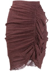 Masscob Ruched Fitted Skirt 60