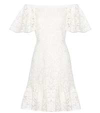 Valentino Lace Off The Shoulder Dress White