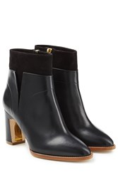 Rupert Sanderson Woodlea Leather And Suede Ankle Boots Black